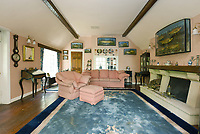BNPS.co.uk (01202 558833)<br /> Pic:  Riverhomes/BNPS<br /> <br /> Pictured: The living room.<br /> <br /> A striking Victorian boathouse that has been used as a film set is on the market for £2m.<br /> <br /> The time capsule building by the River Thames was used in a film version of The Wind in the Willows and the 1996 film True Blue, about the Oxford Cambridge boat race.<br /> <br /> It has an enclosed mooring as well as two moorings on the bank, perfect for those who want to spend their days messing about in boats like Ratty and Mole.