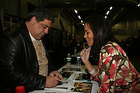 One Life To Live's Vincent Pastore - Daphnee Duplaix appears at Big Apple Comic Con for autographs and photos on October 16 (and 17 & 18), 2009 at Pier 94, New York City, New York. (Photo by Sue Coflin/Max Photos)