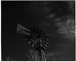 2003 - Nature - White Sands, New Mexico. A windmill  in Southern New Mexico. Scenes from the great state of New Mexico. Along Route 66 and down towards White Sands National Monument..©Andrew Kaufman