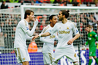 Sunday, 23 November 2012<br /> <br /> Pictured: Michu of Swansea City and Chico Flores of Swansea City<br /> <br /> Re: Barclays Premier League, Swansea City FC v Manchester United at the Liberty Stadium, south Wales.