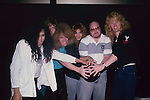 Lizzy Borden with Brian Slagel at Rock n Bowl 1987