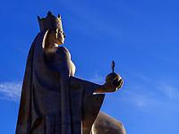 Denkmal Königin Tamar in Achalziche, Samzche-Dschawacheti, Georgien, Europa<br /> monument Queen Tamar in Achalziche, Samzche-Dschawacheti,  Georgia, Europe