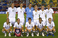 USWNT Starting Eleven. The US Women's National Team defeated Haiti 5-0 during the CONCACAF Women's World Cup Qualifying tournament at Estadio Quintana Roo in Cancun, Mexico on October 28th, 2010.