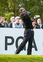 21.05.2015. Wentworth, England. BMW PGA Golf Championship. Round 1.  Pablo Larrazábal [ESP] on the first tee. The first round of the 2015 BMW PGA Championship from The West Course Wentworth Golf Club