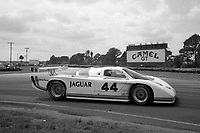 #44 Jaguar XJR-5 of Bob Tullius and Chip Robinson races to a 4th place finish at the 12 Hours of Sebring, at Sebring Raceway, Sebring, FL, March 23, 1985.  (Photo by Brian Cleary/www.bcpix.com)