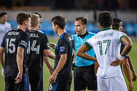 SAN JOSE, CA - SEPTEMBER 19: Referee Rosendo Mendoza during a game between Portland Timbers and San Jose Earthquakes at Earthquakes Stadium on September 19, 2020 in San Jose, California.