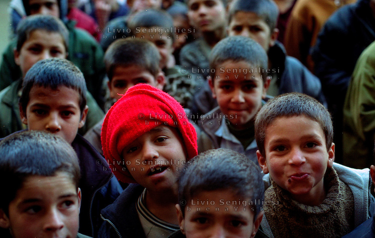 Kabul / Afghanistan.Bambini in un orfanotrofio di Kabul..Foto Livio Senigalliesi..Kabul / Afghanistan.Children living in the biggest orphanage in Kabul..Photo Livio Senigalliesi