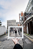 Pictured: Filming of Torchwood with Eve Miles in Cardiff<br />