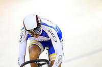Otago's Katie Schofield at the BikeNZ Elite & U19 Track National Championships, Avantidrome, Home of Cycling, Cambridge, New Zealand, Sunday, March 16, 2014. Credit: Dianne Manson
