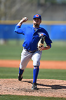 Toronto Blue Jays pitcher Dusty Isaacs (21) during a minor league spring training game against the New York Yankees on March 24, 2015 at the Englebert Complex in Dunedin, Florida.  (Mike Janes/Four Seam Images)