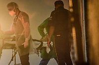 Recife - PE, 21/03/2021 - Covid-Recife - Movimentação no Hospital de Referência Unidade Boa Viagem Covid-19 na noite deste domingo em Recife. O hospital recebe pacientes de covid se toda a região da Grande Recife