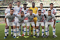 Dublin, Ireland - Saturday June 02, 2018: U.S. men's national team starting eleven vs Ireland during an international friendly match between the men's national teams of the United States (USA) and Republic of Ireland (IRE) at Aviva Stadium.