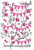 Kate,Valentine, paintings+++++Valentine bunting,GBKM441,#v#, EVERYDAY