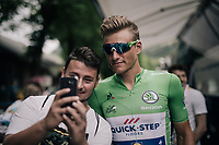 a relaxed Marcel Kittel (DEU/QuickStep Floors) ahead of the heavy mountain stage with 3 HC climbs & +5000 altitude meters<br /> <br /> 104th Tour de France 2017<br /> Stage 9 - Nantua › Chambéry (181km)