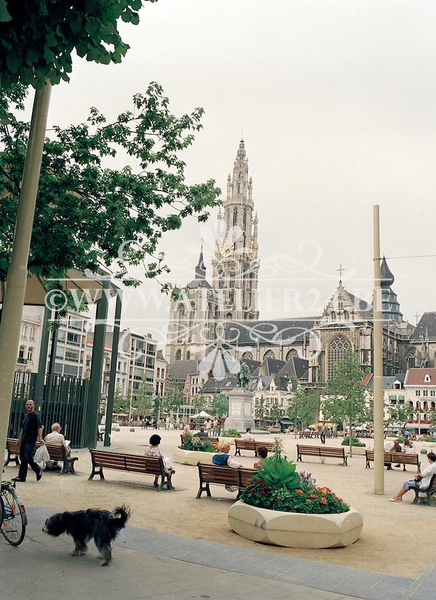 Juli 1994. Groenplaats in Antwerpen.