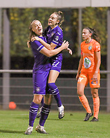 Tine De Caigny (6 Anderlecht) and Tessa Wullaert (27 Anderlecht) celebrate the goal during a female soccer game between RSC Anderlecht Dames and AA Gent Ladies  on the seventh matchday of the 2020 - 2021 season of Belgian Womens Super League , friday 13 th of November 2020  in Overijse , Belgium . PHOTO SPORTPIX.BE | SPP | SEVIL OKTEM