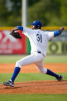 Carlos Fortuna #31 of the Burlington Royals in action versus the Elizabethton Twins at Burlington Athletic Park July 19, 2009 in Burlington, North Carolina. (Photo by Brian Westerholt / Four Seam Images)