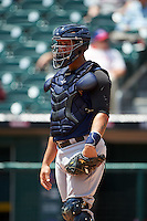 Scranton/Wilkes-Barre RailRiders catcher Gary Sanchez (35) during a game against the Buffalo Bisons on July 2, 2016 at Coca-Cola Field in Buffalo, New York.  Scranton defeated Buffalo 5-1.  (Mike Janes/Four Seam Images)