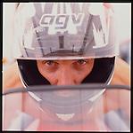 Matt Mladdin Motorcycle Champion from Australia, at the Phoenix, Arizona Raceway. Shot for Unlimited.