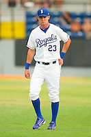Bubba Starling #23 of the Burlington Royals prior to the game against the Bristol White Sox at Burlington Athletic Park on July 6, 2012 in Burlington, North Carolina.  The Royals defeated the White Sox 5-2.  (Brian Westerholt/Four Seam Images)