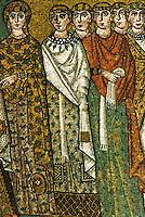 Ravenna: Temple of San Vitale--Empress Theodora's Retinue.