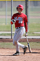 April 5, 2009:  /1b/ Ian Nielsen (26) of the Ball State Cardinals during a game at Amherst Audubon Field in Buffalo, NY.  Photo by:  Mike Janes/Four Seam Images