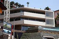 Switzerland. Canton Ticino. Lugano. Castagnola area. Construction of two deluxe flats in a private house. Real estate billboard. 2.06.12© 2012 Didier Ruef