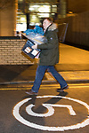 © Joel Goodman - 07973 332324 . 23/02/2017 . Stoke-on-Trent , UK . The very first ballot box is carried in to the count in the by-election for the constituency of Stoke-on-Trent Central , at Fenton Manor Sports Complex . Photo credit : Joel Goodman