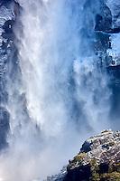 Close up of Upper Yosemite Falls. Yosemite National Park, California