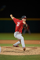 Palm Beach Cardinals relief pitcher Patrick Dayton (30) during a Florida State League game against the Lakeland Flying Tigers on May 22, 2019 at Publix Field at Joker Marchant Stadium in Lakeland, Florida.  Palm Beach defeated Lakeland 8-1.  (Mike Janes/Four Seam Images)
