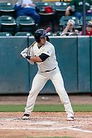 Visalia Rawhide designated hitter Renae Martinez (9) during a California League game against the Rancho Cucamonga Quakes on April 8, 2019 in Visalia, California. Rancho Cucamonga defeated Visalia 4-1. (Zachary Lucy/Four Seam Images)