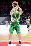 Unics Kazan's player Artsiom Parakhouski during match of Turkish Airlines Euroleague at Barclaycard Center in Madrid. November 24, Spain. 2016. (ALTERPHOTOS/BorjaB.Hojas)