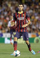 FC Barcelona's Sergio Busquets during La Liga match.September 1,2013. (ALTERPHOTOS/Acero) <br /> Football Calcio 2013/2014<br /> La Liga Spagna<br /> Foto Alterphotos / Insidefoto <br /> ITALY ONLY