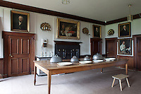 In the serving room next to the dining room hang portraits of four members of the ducal househoild. Three are by John Ainslie; the fourth - of a courier - is attributed to Martin Quadal