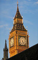 Big Ben at sunset. London, England. London, England.