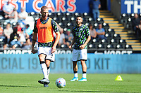 Mike van der Hoorn of Swansea City during the pre-match warm-up for the Sky Bet Championship match between Swansea City and Nottingham Forest at the Liberty Stadium in Swansea, Wales, UK. Saturday 14 September 2019