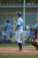 Tampa Bay Rays Robbie Tenerowicz (86) during a minor league Spring Training game against the Baltimore Orioles on March 29, 2017 at the Buck O'Neil Baseball Complex in Sarasota, Florida.  (Mike Janes/Four Seam Images)