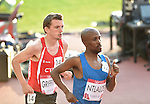 Wales' Dewi Griffiths, left, runs in the 10,000m final<br /> <br /> Photographer Chris Vaughan/Sportingwales<br /> <br /> 20th Commonwealth Games - Day 9 - Friday 1st August 2014 - Athletics - Hampden Park - Glasgow - UK