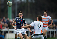 Peter Lydon of London Scottish Football Club during the Greene King IPA Championship match between London Scottish Football Club and Ealing Trailfinders at Richmond Athletic Ground, Richmond, United Kingdom on 26 December 2015. Photo by Alan  Stanford / PRiME Media Images