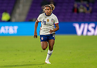 ORLANDO, FL - JANUARY 18: Catarina Macario #29 of the USWNT sprints during a game between Colombia and USWNT at Exploria Stadium on January 18, 2021 in Orlando, Florida.