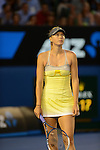 Maria Sharapova (RUS) wins at Australian Open in Melbourne Australia on 18th January 2013