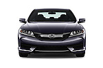 Car photography straight front view of a 2017 Honda Accord LX-S 2 Door Coupe Front View