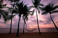 Tropical sunset, Fiji, Pacific Ocean