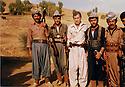 Iran 1982  .Third left, Dr. Hadwin Shatavi, Kurdish surgeon with his bodygards in the village of Ghalve  .Iran 1982  .Au milieu, Hardwin Shatavi, chirurgien kurde entoure de ses gardes du corps a Ghalve