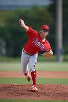 Philadelphia Phillies pitcher J.D. Hammer (26) delivers a pitch during an Instructional League game against the Toronto Blue Jays on September 30, 2017 at the Carpenter Complex in Clearwater, Florida.  (Mike Janes/Four Seam Images)