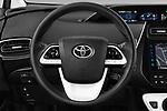 Car pictures of steering wheel view of a 2017 Toyota Prius Plug-in Hybride Solar 5 Door Hatchback