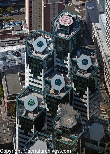 aerial photograph of Emerald Plaza, San Diego, California