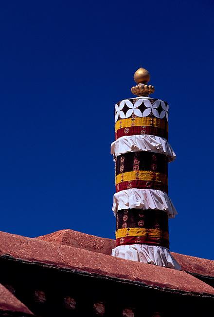 Roof ornament at Jokhang Temple, Lhasa, Tibet, Tibetan Autonomous Region, China, Asia