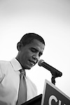 November 1, 2007. Durham, NC.. US senator and presidential candidate, Barack Obama, held a fundraiser at O?Kelly Riddick Stadium, at North Carolina Central University, in Durham, NC.