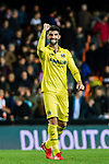 Alvaro Gonzalez Soberon of Villarreal CF celebrates after winning the La Liga 2017-18 match between Valencia CF and Villarreal CF at Estadio de Mestalla on 23 December 2017 in Valencia, Spain. Photo by Maria Jose Segovia Carmona / Power Sport Images